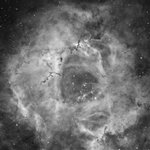 Rosette Nebula in Ha - Crop